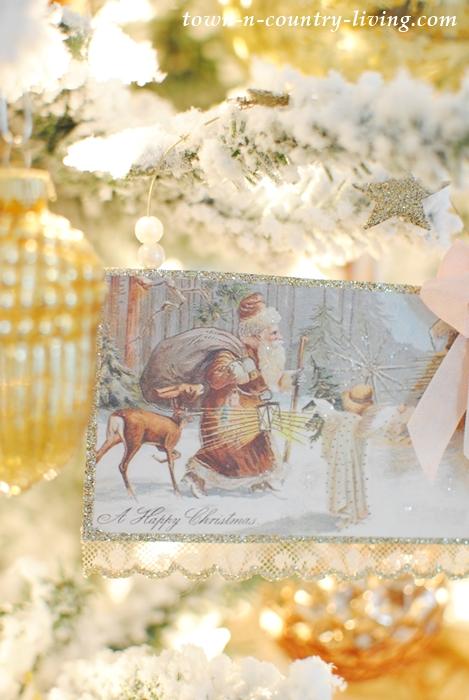Vintage Santa Postcard Ornaments