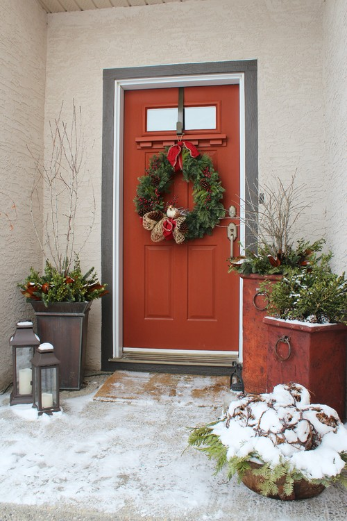 Traditional Front Holiday Door