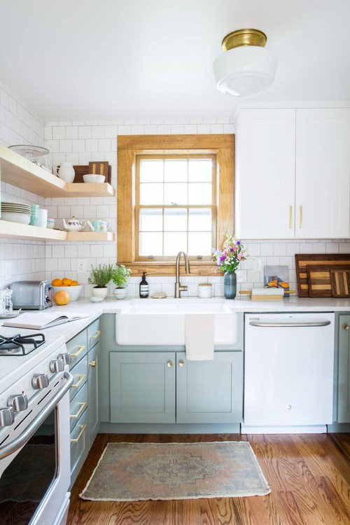 Blue and White Cottage Kitchen