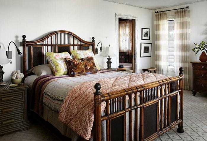 Whitewashed Lake Cabin Bedroom