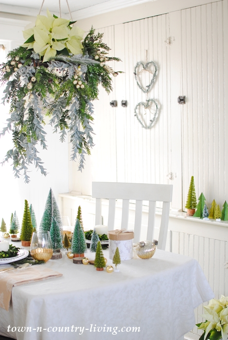 Quiet Christmas morning breakfast in a dining nook
