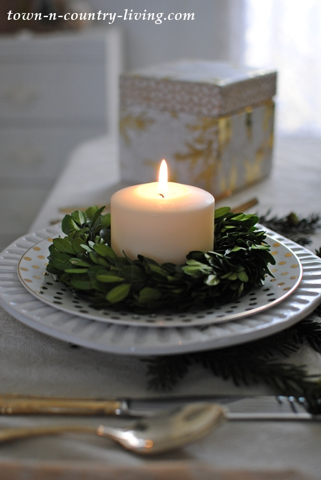 Christmas Morning Table Setting