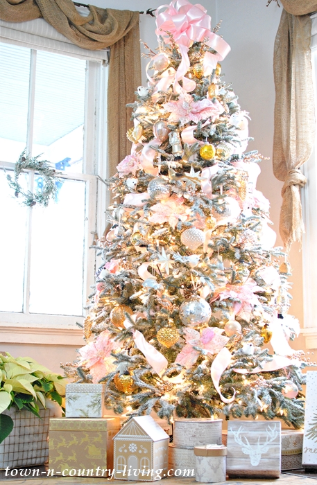 Pink Champagne Christmas Tree