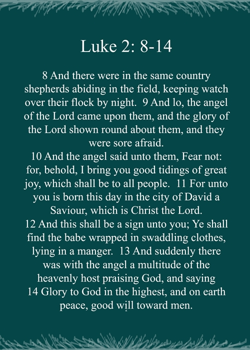 The Christmas Story. Luke 2:-14