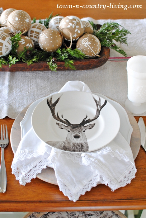 Reindeer Christmas place setting