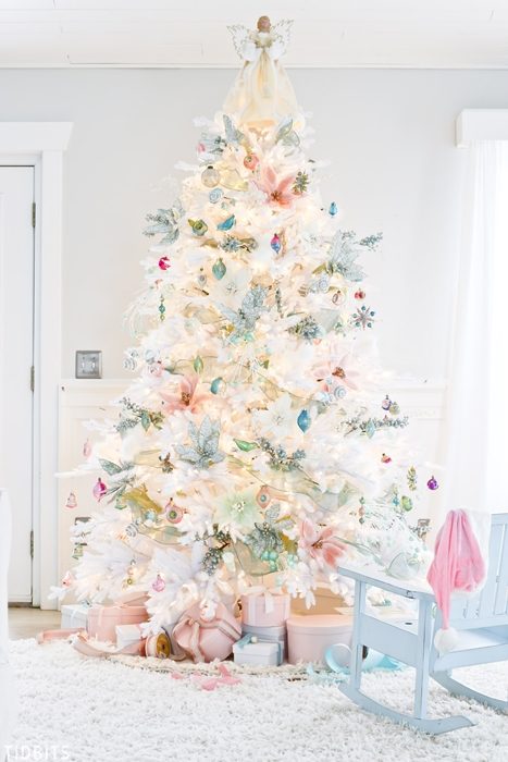 White and Pastel Christmas Tree by Tidbits