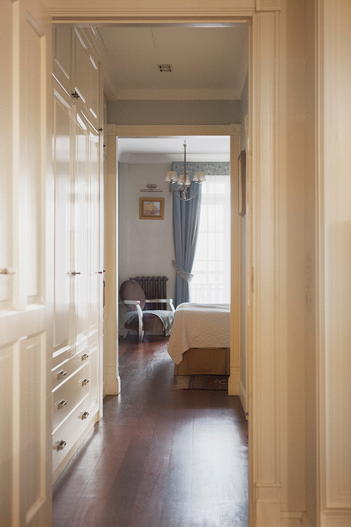 Bedroom Hallway with Built-In Storage