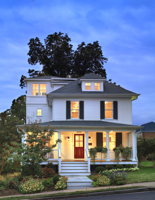 Farmhouse exterior with curb appeal