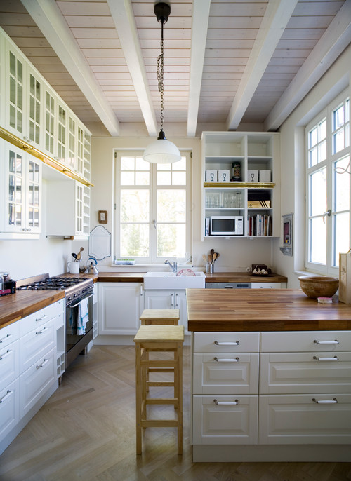 White Kitchen Butcher Block : Reasons to Install Butcher Block Counter Tops - Town & Country Living