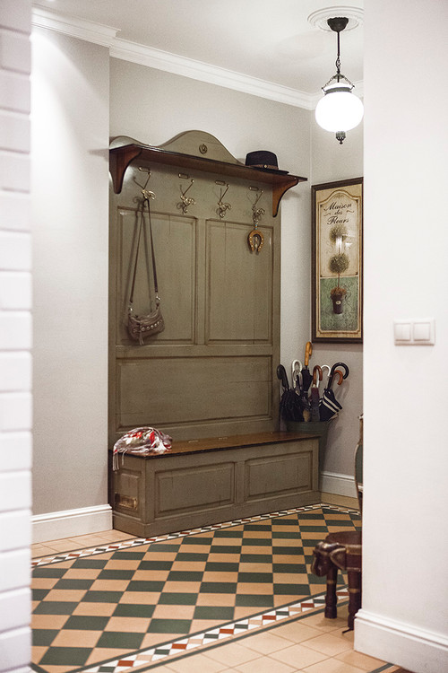 Convenient Coat Rack in Mudroom