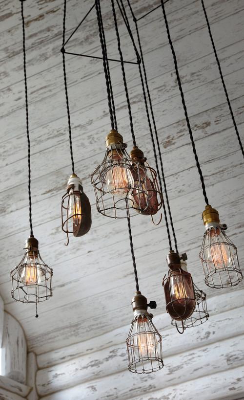 Industrial style light fixtures