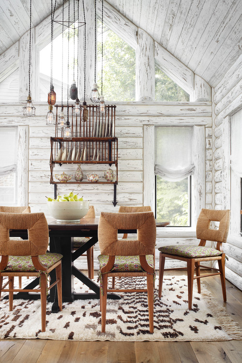 Dining room in a Wisconsin Lake Cabin