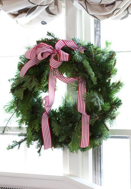 Green Christmas Natural Wreath