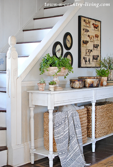 Console Baskets from Pottery Barn