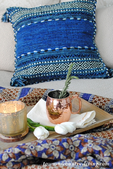 Kantha Blanket and Boho Pillow