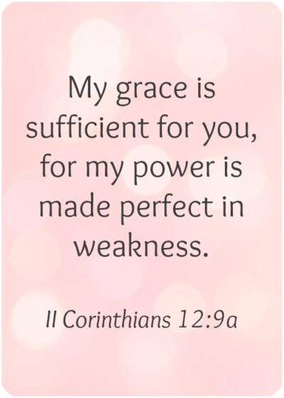 My grace is sufficient verse