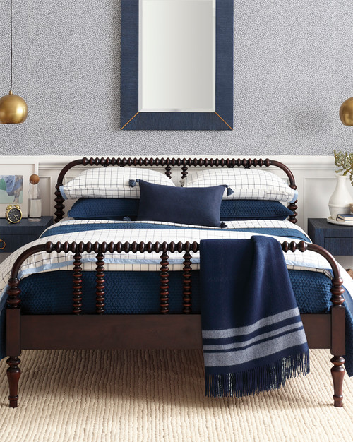 Blue Farmhouse Bedroom