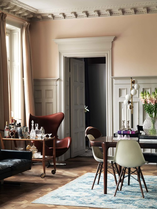Pink and Gray Dining Room