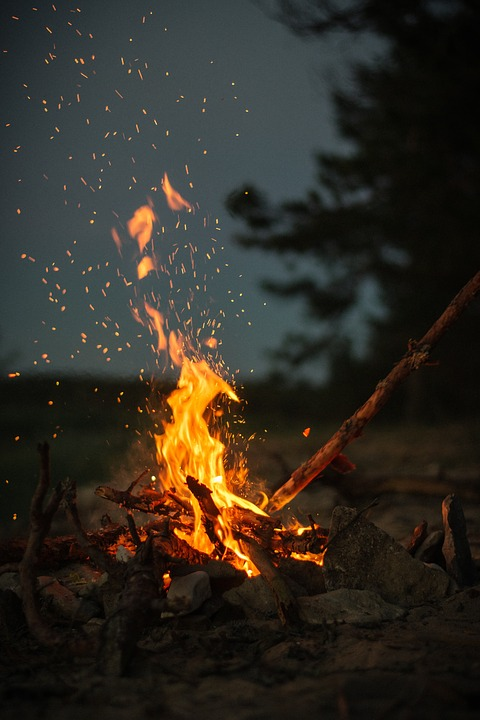 Fire at Night - campfire