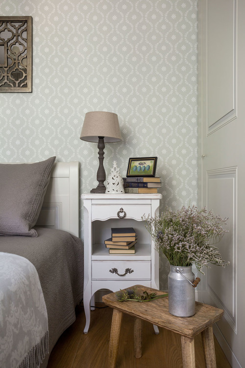 Traditional Bedroom in Soft Grays