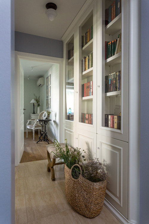 Traditional Hallway with Built-In Cabinet