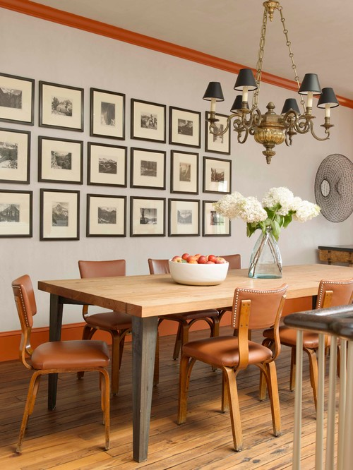 Brooklyn Townhouse Dining Room with Gallery Wall