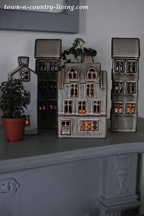 Cozy Ceramic Tealight Village