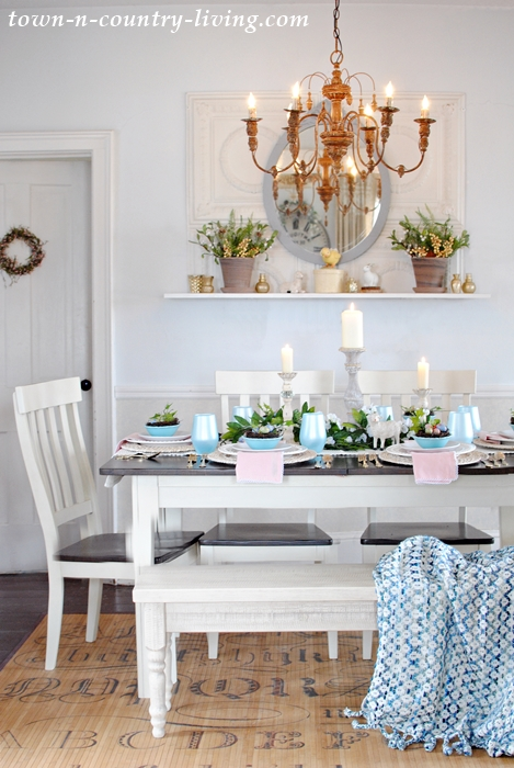 Spring Farmhouse Dining Room