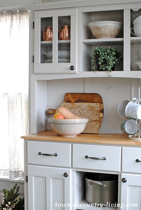 Storage Opportunities in Kitchen Hutch