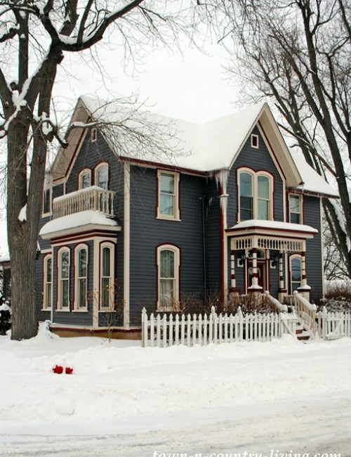 Gray Victorian Home in Yorkville