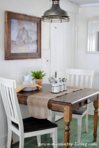 Farmhouse Table for a Breakfast Nook
