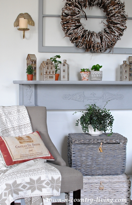 Cozy Painted Mantel for Hygge Living
