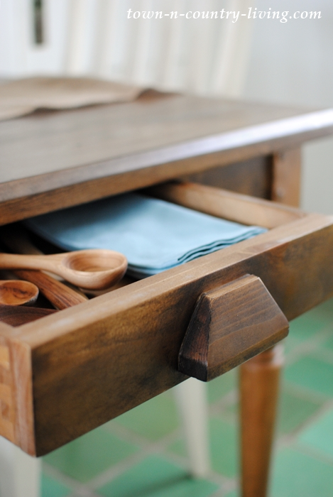 Farmhouse Table with Drawers
