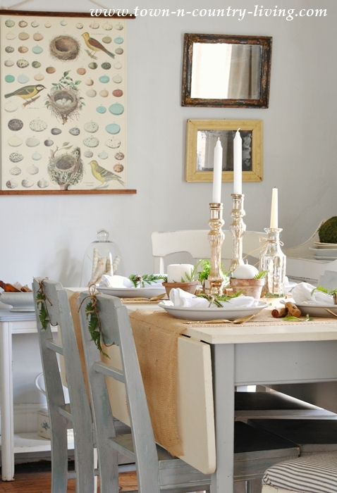 Spring Decorating in Farmhouse Dining Room