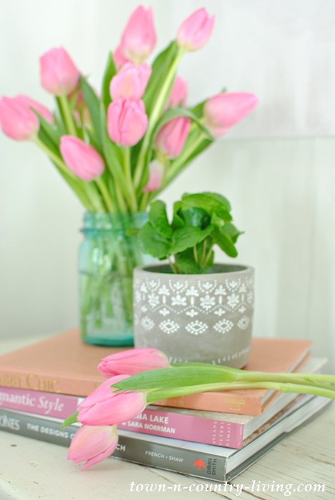 Create a Romantic Home with Pink Tulips