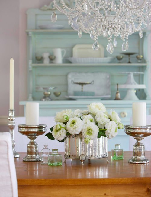 Soft Blue Dining Room