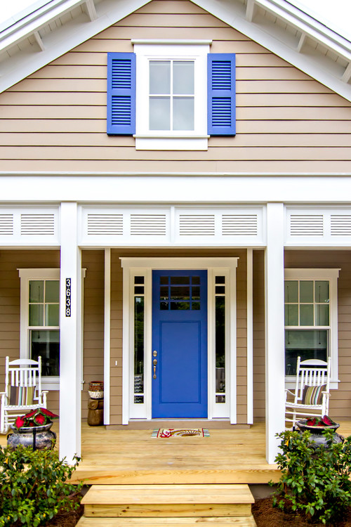 Blue Front Door and Shutters