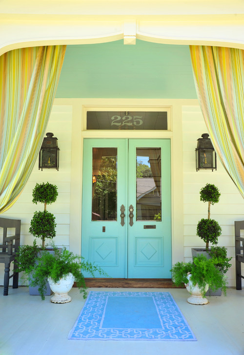 Blue Double Front Doors