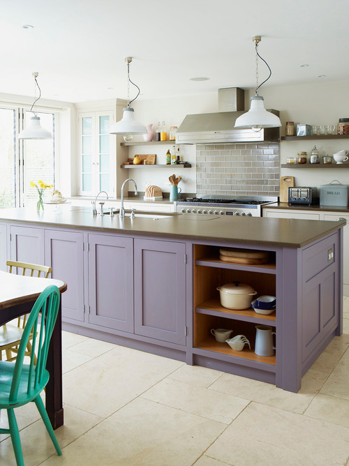 Lavender Kitchen Island