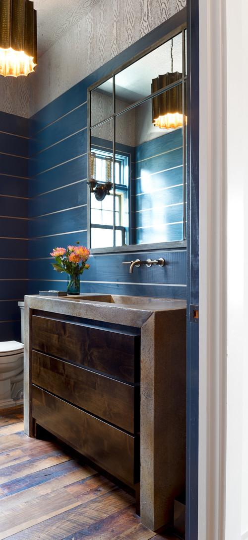 Blue Farmhouse Bathroom