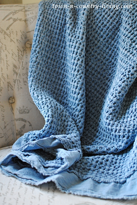 Blue Spring Textured Throw