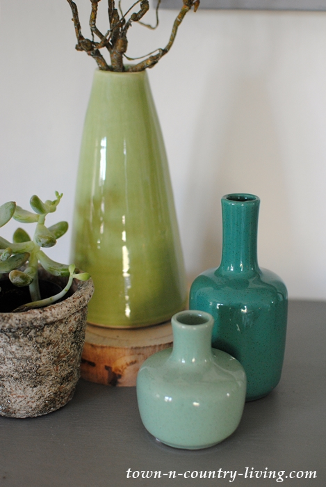 Blue and Green Spring Vases