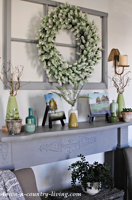 Country Spring Mantel