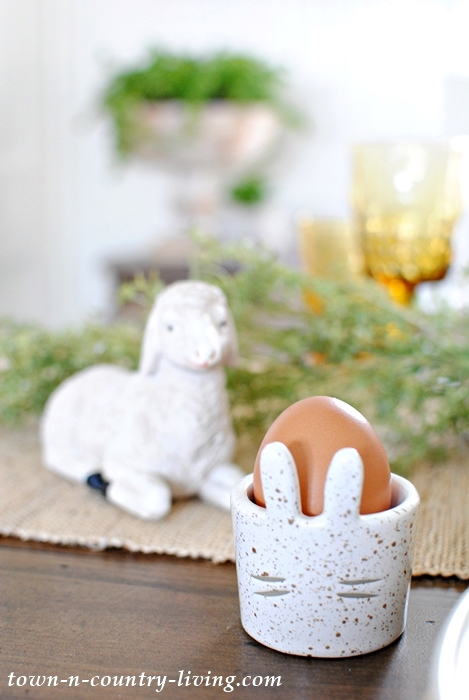 Ceramic Egg Cup for Easter Brunch