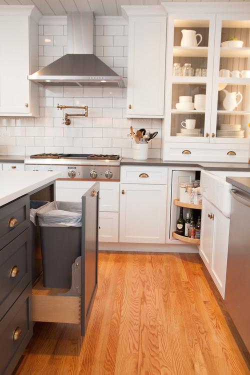 Farmhouse Kitchen in Gray and White