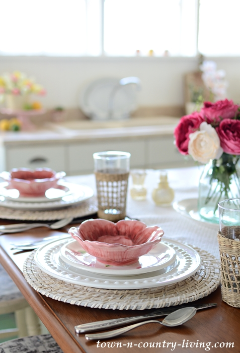 Spring Kitchen Table Setting