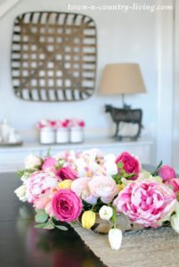 Pink Faux Flowers for My Farmhouse Dining Room