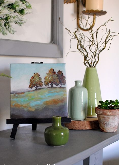 Blue and Green Spring Mantel