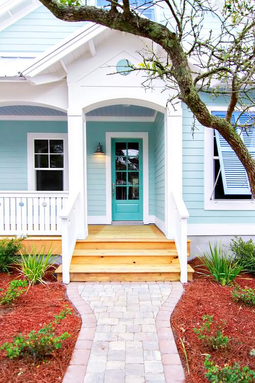 Light Blue Beach Style House