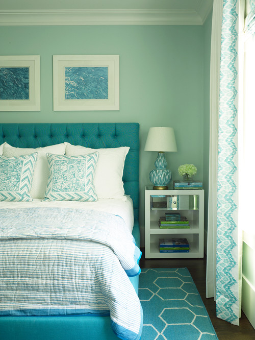 Beach Style Bedroom in East Hampton Village
